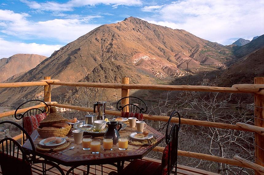 Apartment Suite breakfast patio, Kasbah du Toubkal