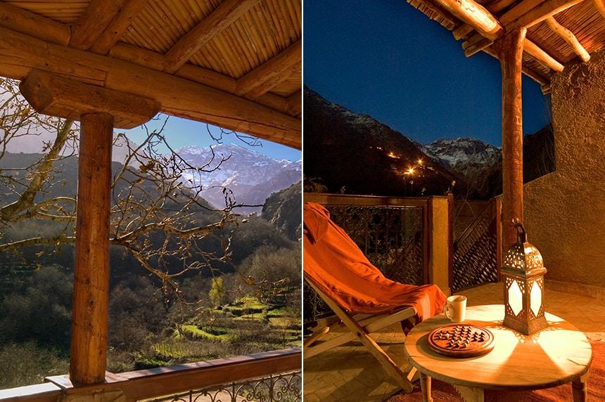 Balconies overlooking the beautiful scenery. Deluxe Room, Kasbah du Toubkal