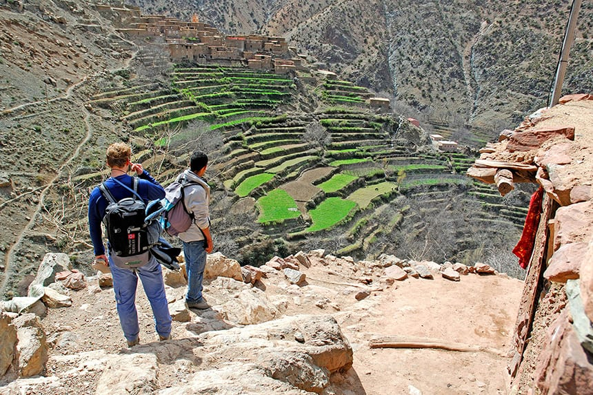 Trekking in the unspoilt Azzaden Valley