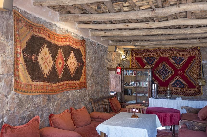 Traditional salon area, Azzaden Trekking Lodge
