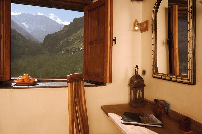 Stunning views towards Jbel Toubkal, Standard Room, Kasbah du Toubkal