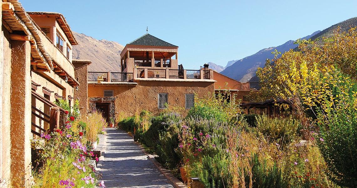 Kasbah du Toubkal garden