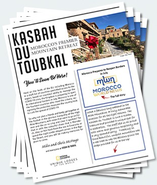 Covers of the twenty-third edition of the Kasbah du Toubkal newsletter