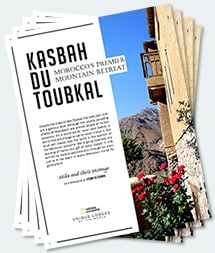 Covers of the twenty-second edition of the Kasbah du Toubkal magazine