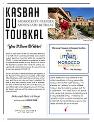 The cover of the twenty-third edition of the Kasbah du Toubkal newsletter