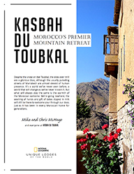 The cover of the twenty-second edition of the Kasbah du Toubkal magazine