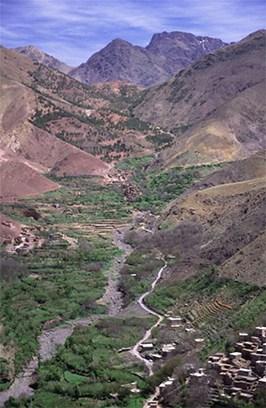 Imlil Valley from the path towards Tizi Mzik