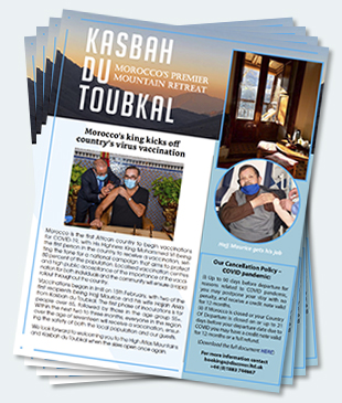 Covers of the twenty-seventh edition of the Kasbah du Toubkal newsletter