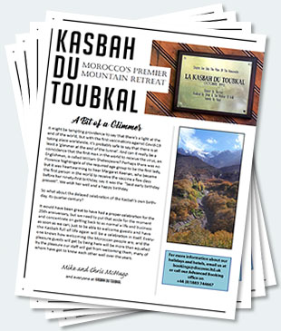 Covers of the twenty-fourth edition of the Kasbah du Toubkal newsletter