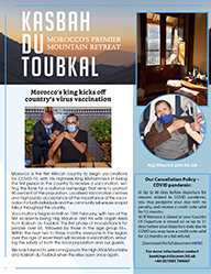 The cover of the twenty-seventh edition of the Kasbah du Toubkal newsletter