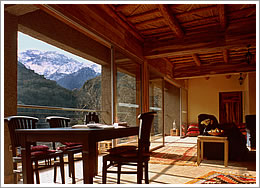 Apartment Suite lounge with views towards Toubkal