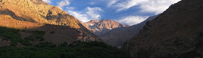 The stunning scenery of the High Atlas Mountains