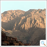 Toubkal at dusk from the Kasbah