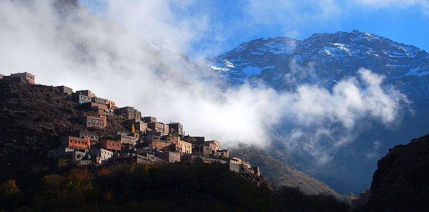 The village of Aremd and Toubkal
