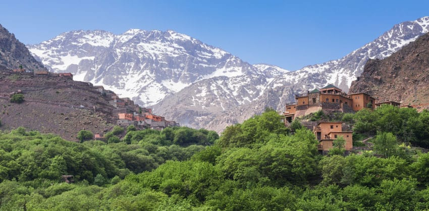 The kasbah and Jbel Toubkal