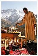 Tea on the balcony at Azzaden Trekking Lodge