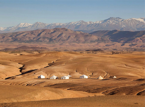 The Agafay Desert Camp near Marrakech