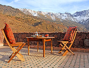 Photo of Azzaden Trekking Lodge terrace with views towards Tazaghart
