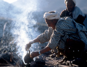 Nomads making mint tea - Copyright Alan Keohane