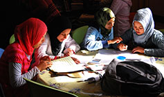 Photo of girls studying at Dar Asni