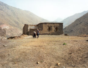 The original ruins now converted into Kasbah du Toubkal