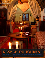 The cover of the second edition of the Kasbah du Toubkal magazine