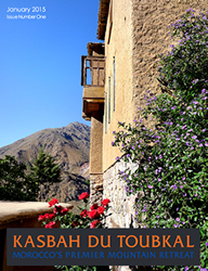 The cover of the first edition of the Kasbah du Toubkal magazine