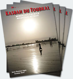 Covers of the eighth edition of the Kasbah du Toubkal magazine