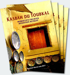 Covers of the eleventh edition of the Kasbah du Toubkal magazine