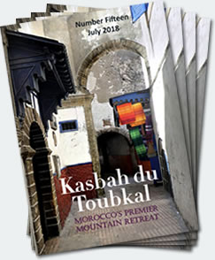 Covers of the fifteenth edition of the Kasbah du Toubkal magazine