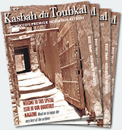 Covers of the fourteenth edition of the Kasbah du Toubkal magazine