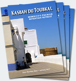 Covers of the ninth edition of the Kasbah du Toubkal magazine
