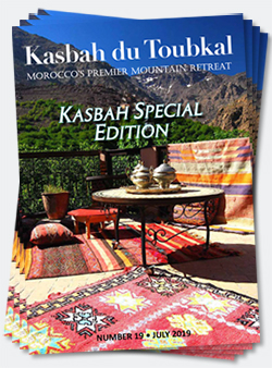 Covers of the nineteenth edition of the Kasbah du Toubkal magazine