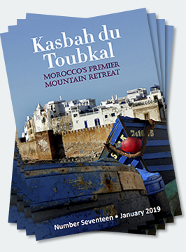 Covers of the seventeenth edition of the Kasbah du Toubkal magazine