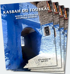 Covers of the sixth edition of the Kasbah du Toubkal magazine