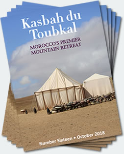 Covers of the sixteenth edition of the Kasbah du Toubkal magazine
