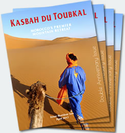 Covers of the tenth edition of the Kasbah du Toubkal magazine