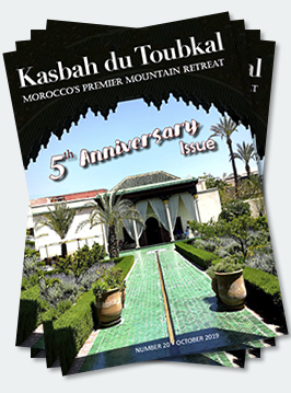 Covers of the twentieth edition of the Kasbah du Toubkal magazine