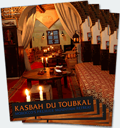 Covers of the second edition of the Kasbah du Toubkal magazine