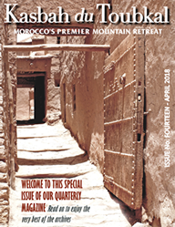 The cover of the fourteenth edition of the Kasbah du Toubkal magazine