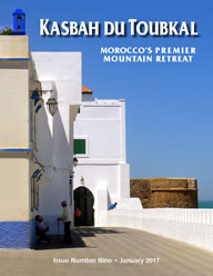 The cover of the ninth edition of the Kasbah du Toubkal magazine