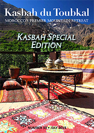 The cover of the eighteenth edition of the Kasbah du Toubkal magazine