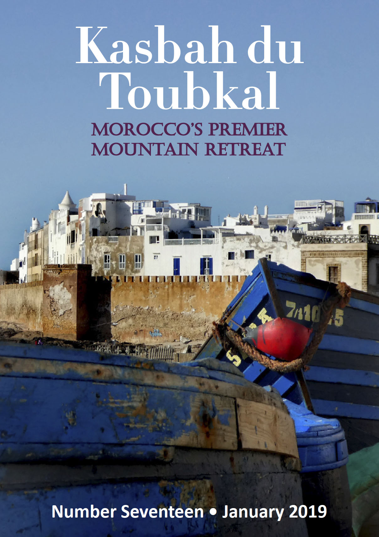 The cover of the seventeenth edition of the Kasbah du Toubkal magazine