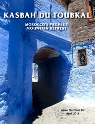 The cover of the sixth edition of the Kasbah du Toubkal magazine