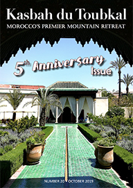 The cover of the twenty edition of the Kasbah du Toubkal magazine