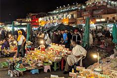 Street traders in Marrakech