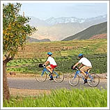 Cycling in the foothills of the Atlas